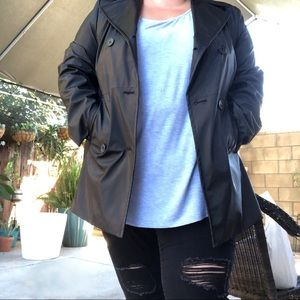 Lane Bryant Black Trench Coat